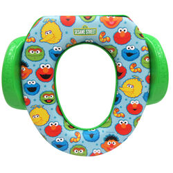 Ginsey  Sesame Street Best Pals  Round  Soft  Child's Toilet Seat