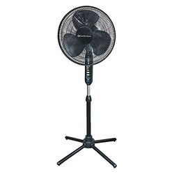 Comfort Zone  47-3/8 in. H 3 speed Electric  Oscillating Pedestal Fan