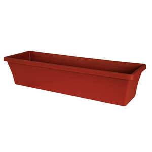 Bloem  Terrabox  5.2 in. H x 30 in. W Terracotta Clay  Resin  Traditional  Planter