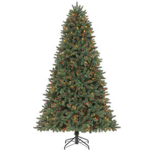 Celebrations  Multicolored  Prelit 7-1/2 ft. Grand Fir  Artificial Tree  1000 lights 2193 tips
