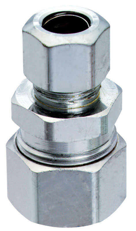 Ace  1/2 in. Dia. x 1/2 in. Dia. Compression To Compression  Chrome Plated  Brass  Connector