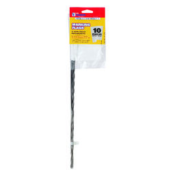 C.H. Hanson  15 in. White  Marking Flags  Polyvinyl  10 pk