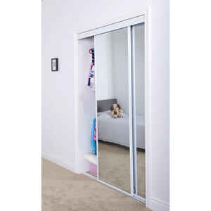 Erias  48 in. H x 80 in. L Mirrored Sliding Door