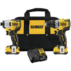 DeWalt Xtreme 12V MAX 12 volt Cordless Brushless 2 tool Compact Drill and Impact Driver Kit