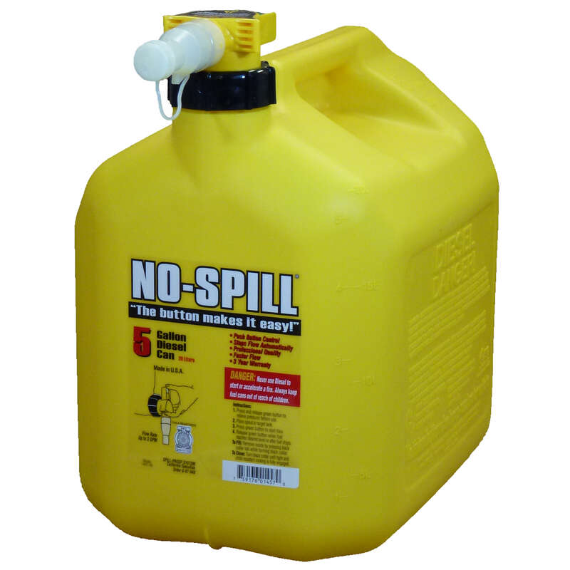 No-Spill Plastic Diesel Can 5 gal.