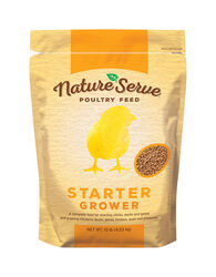 NatureServe  Non-Medicated  Grower/Starter Feed  Crumble  For Poultry 10 lb.