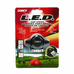 Dorcy  13 lumens Black  LED  Cap Light  CR2016 Battery