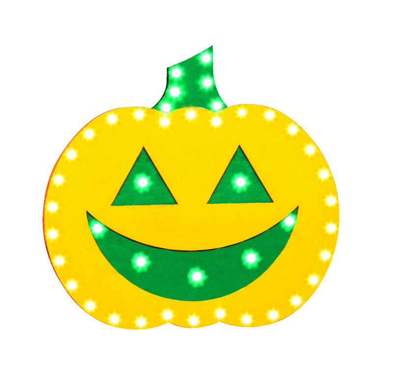 Santa's Best  Pumpkin  Lighted Halloween Decoration