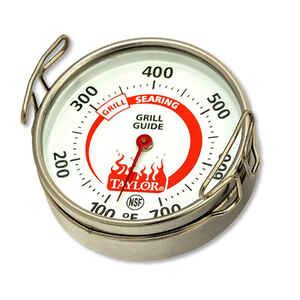 Taylor  Weekend Warrior  Grill Thermometer Gauge  Analog