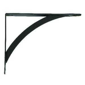 John Sterling  Powder-Coated  Black  Steel  12 Ga. Elegant  6.5 in. H x 0.75 in. W x 7 in. L Bracket