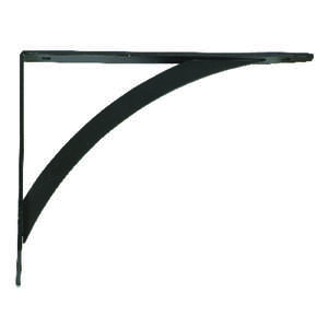 John Sterling  Powder-Coated  Black  Steel  12 Ga. Elegant  Bracket  6.5 in. H x 0.75 in. W x 7 in.