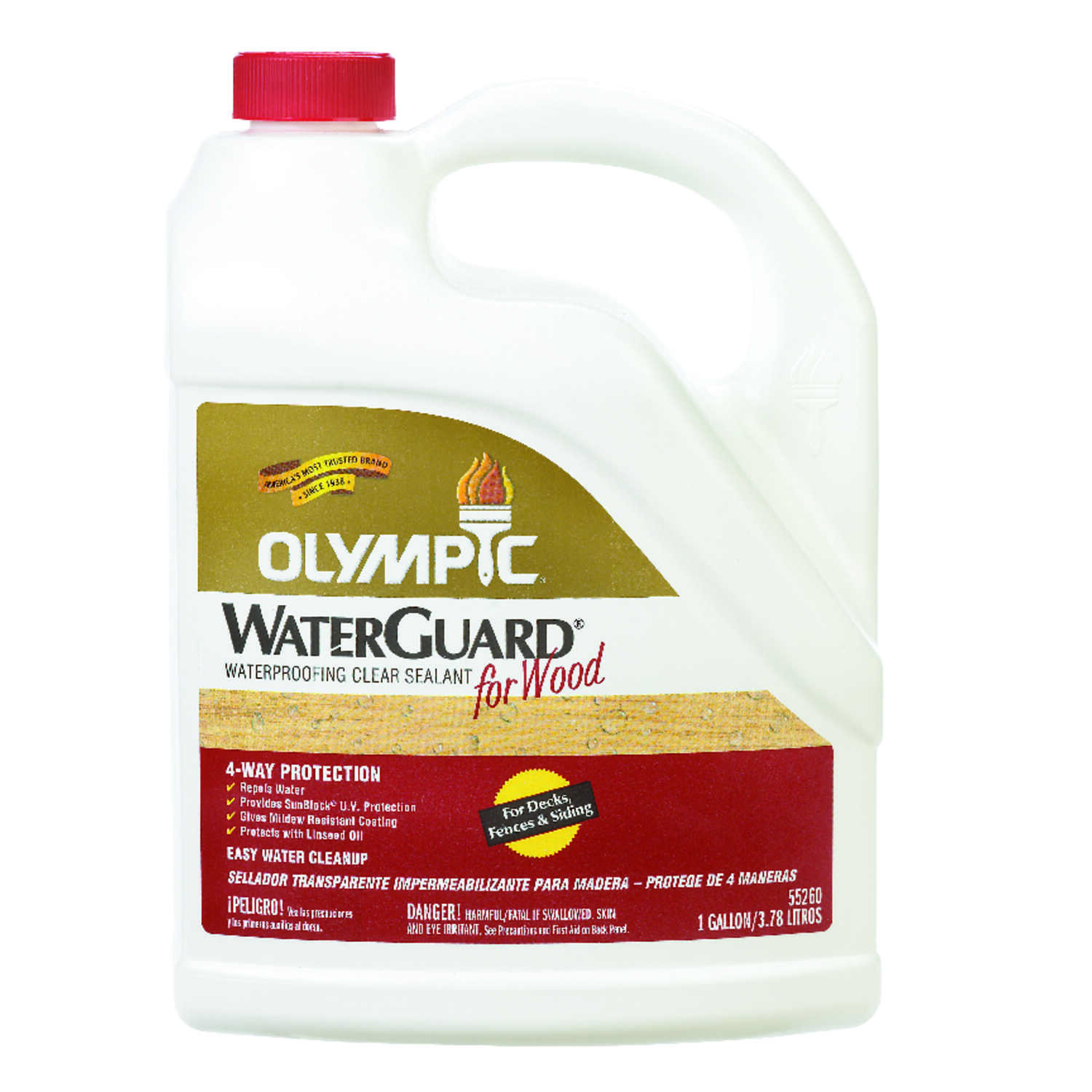 Olympic Waterguard Low Luster Clear Oil Based Waterproofer Wood