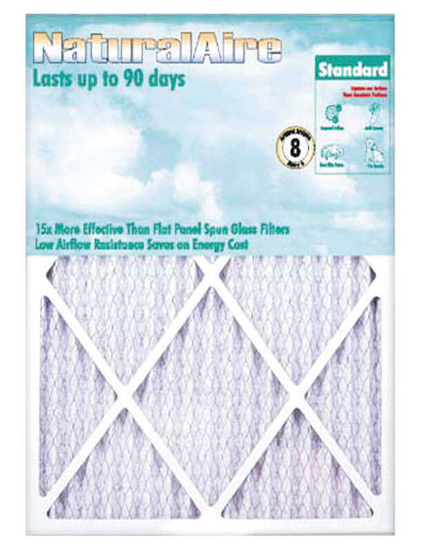 AAF Flanders  NaturalAire  10 in. W x 24 in. H x 1 in. D 8 MERV Pleated Air Filter
