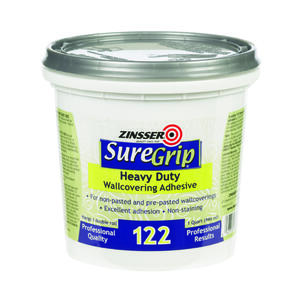 Zinsser  SureGrip 122  High Strength  Adhesive  1 qt.