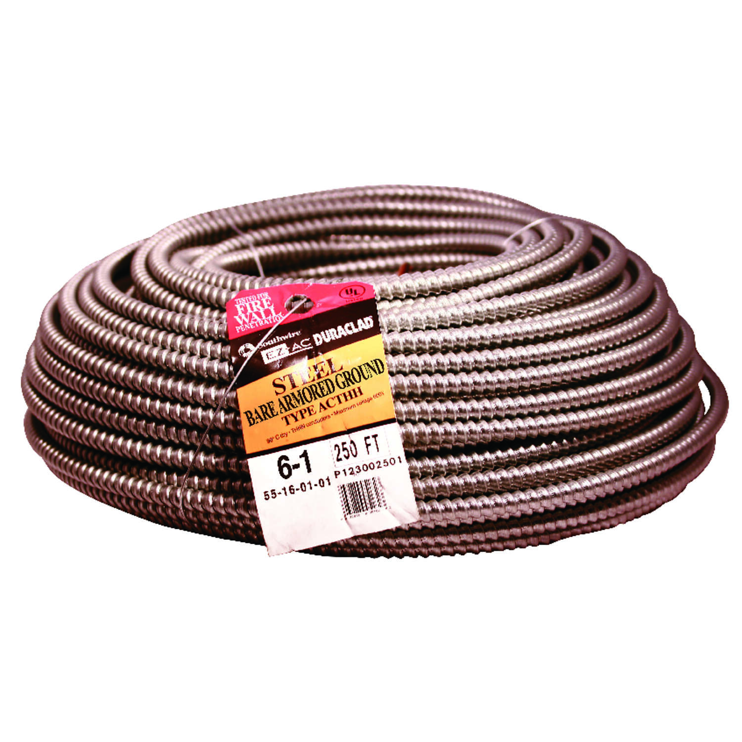 Southwire  Duraclad  250 ft. 6/1  Solid  Bare Armored Copper  Wire