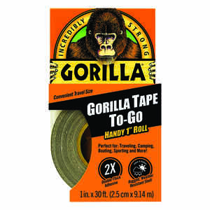 Gorilla  1 in. W x 420 in. L Gorilla Tape To-Go  Black