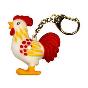 KeyGear  Plastic  Red  Rooster Light  Key Holder