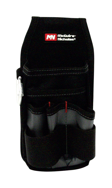 McGuire Nicholas  8 in. W x 12-1/8 in. H Polyester  Tool Pouch  8 pocket Black  1 pc.