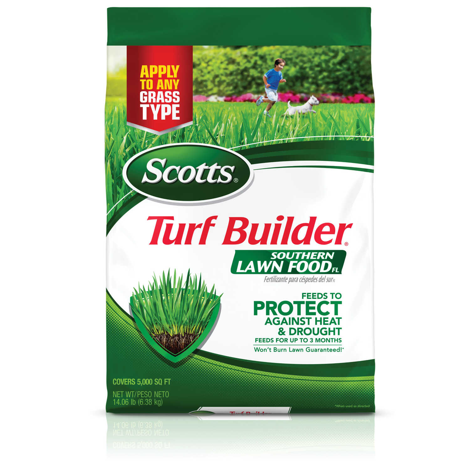 Scotts  Turf Builder  32-0-10  Lawn Food  For All Florida Grasses 14.06 lb.