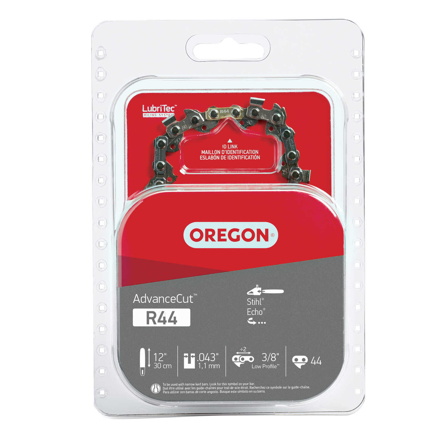 Oregon  Advance Cut  12 in. 44 links Chainsaw Chain