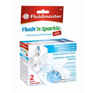 Fluidmaster  Flush N' Sparkle  No Scent Continuous Toilet Cleaning System Refill  1  Liquid