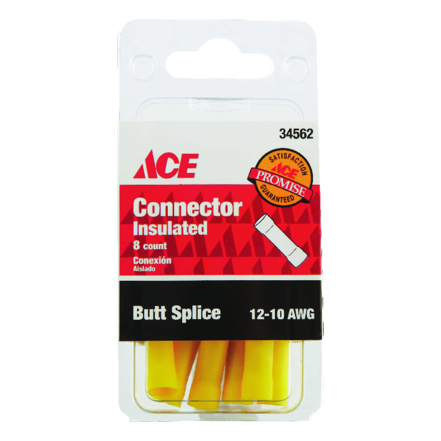 Ace  Insulated Wire  Butt Connector  8 pk