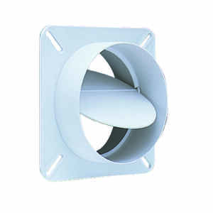 Deflect-O  4 in. W x 5 in. L White  Plastic  Back Draft Damper
