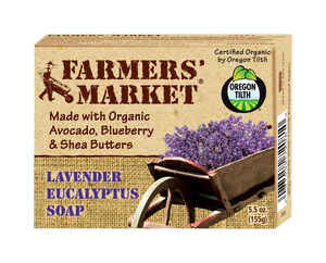 Beaumont Products  Farmers Market  Organic Lavender Eucalyptus Scent Organic Bar Soap  5.5 oz