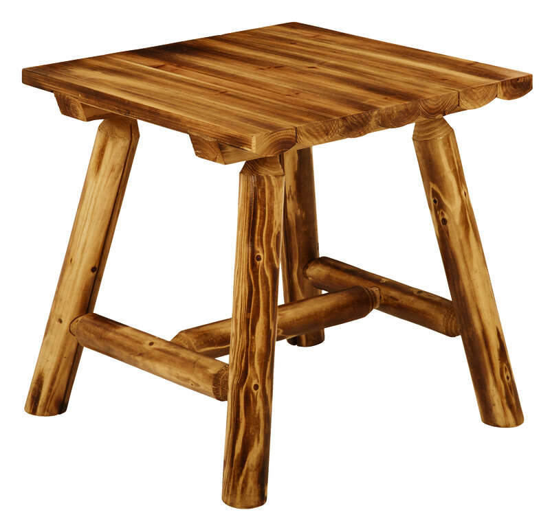 Jack-Post  Northwood  Brown  Northwoods  Square  Log End Table  Wood