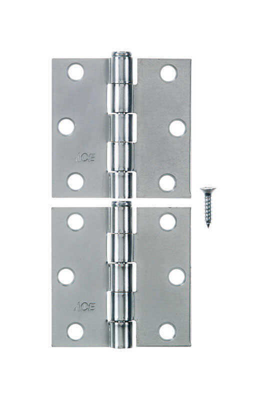 Ace  2-1/2 in. L Zinc-Plated  Steel  Broad Hinge  2 pk