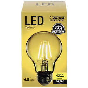 FEIT Electric  Filament  A19  E26 (Medium)  LED Bulb  Yellow  30 Watt Equivalence 1 pk