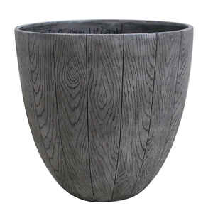 Southern Patio  14.53 in. H x 15 in. W Graywood  Resin  Woodgrain  Planter