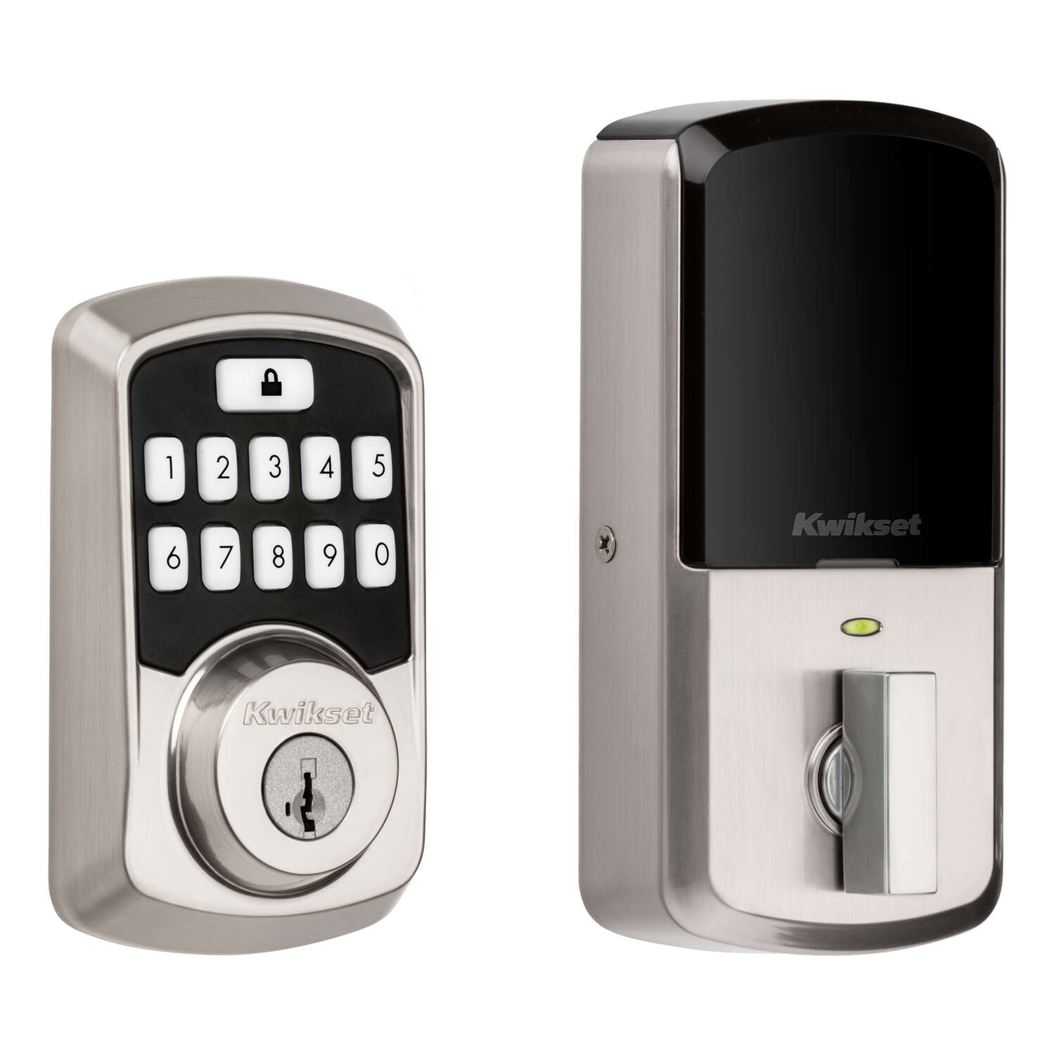 Kwikset  Aura  Satin Nickel  Metal  Bluetooth Keypad Entry Smart Lock