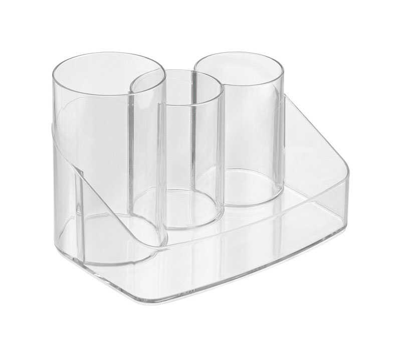 InterDesign  5.5 in. H x 5.5 in. D x 8 in. W Cosmetic Organizer