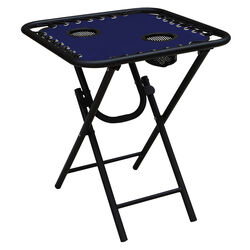 Living Accents Square Blue Bungee Side Table
