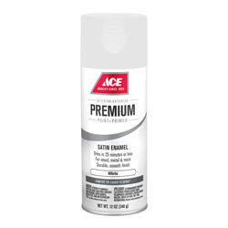 Ace  Premium  Satin  White  Enamel Spray Paint  12 oz.
