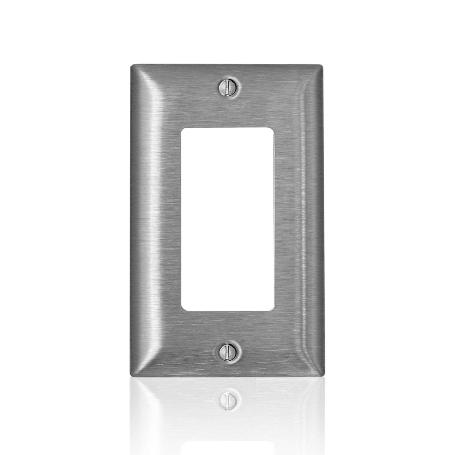 Leviton  C-Series  Stainless Steel  1 gang Metal  Decora/GFCI  Wall Plate  1 pk