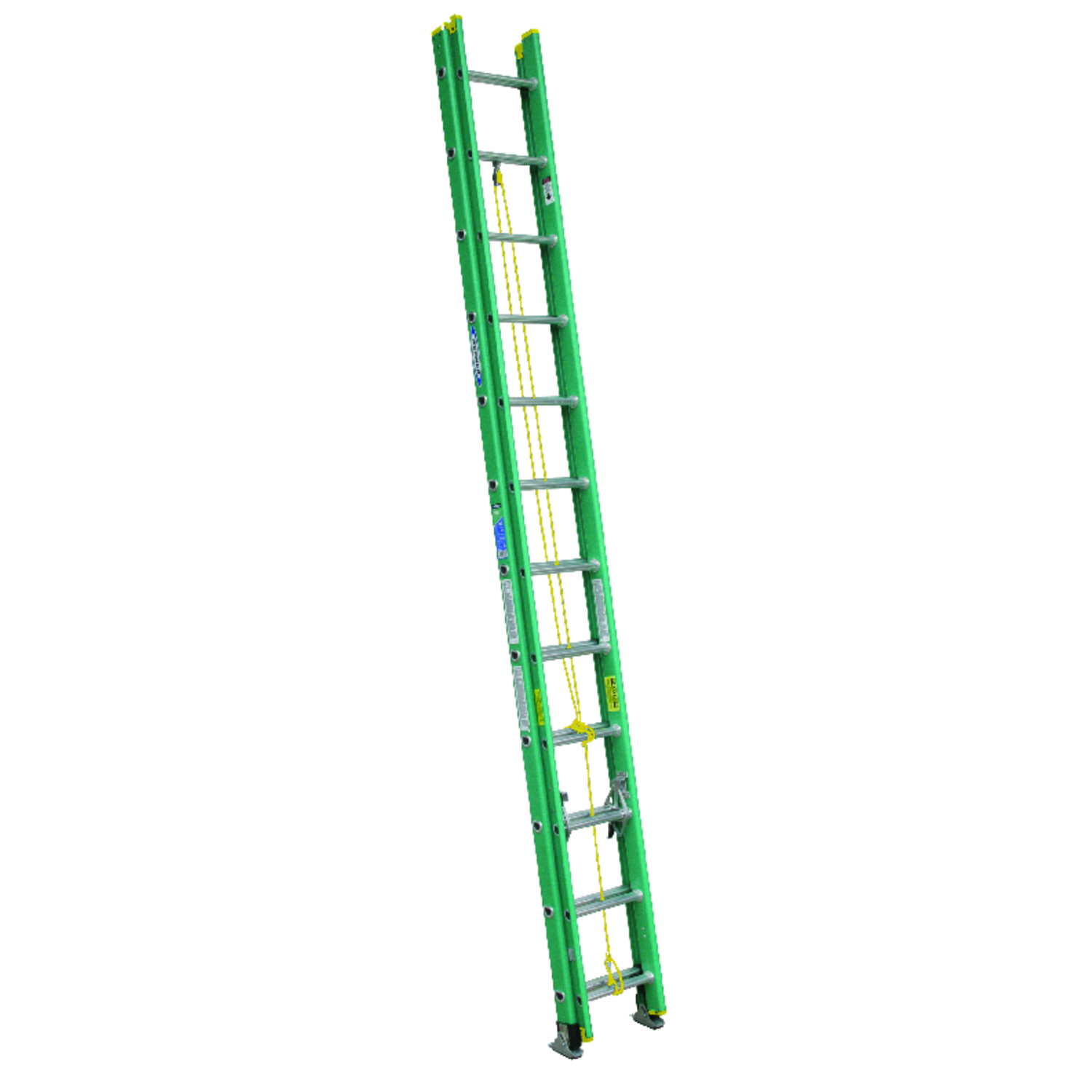 Werner  24 ft. H x 17.75 in. W Extension Ladder  Type II  Fiberglass  225 lb.