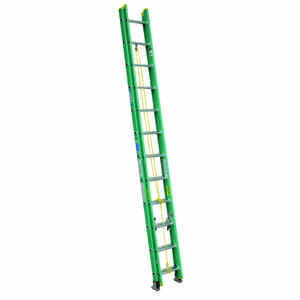 Werner  24 ft. H x 17.75 in. W Fiberglass  Type II  Extension Ladder  225 lb.
