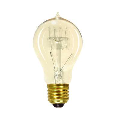 Satco  40 watts A19  Specialty  Incandescent Bulb  E26 (Medium)  Soft White  1 pk