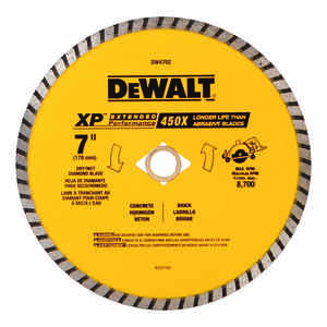 DeWalt  7 in. Dia. x 5/8 in.  XP Extended Performance  Masonry Blade  Diamond  1 pk