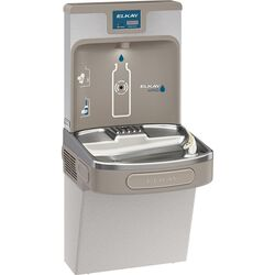 Elkay EZH2O 8 gal. Gray Bottle Filling Station and Water Cooler Stainless Steel