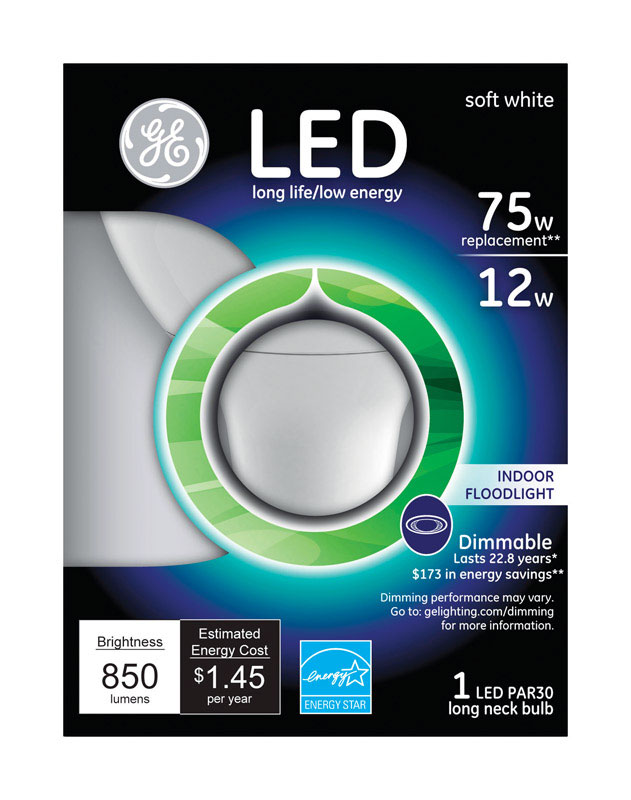 Ge Lighting 12 Watts Par30 Led Bulb 850 Lumens 75 Watt Equivalence Floodlight Soft White