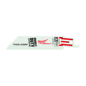 Milwaukee  SAWZALL  4 in. Bi-Metal  Double Duty Upgrade  Reciprocating Saw Blade  24 TPI 5 pk