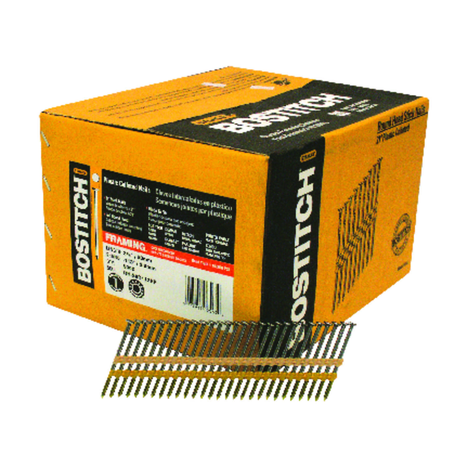 Stanley Bostitch  11 Ga. Smooth Shank  Straight Strip  Nails  2-3/8 in. L x 0.13 in. Dia. 5,000
