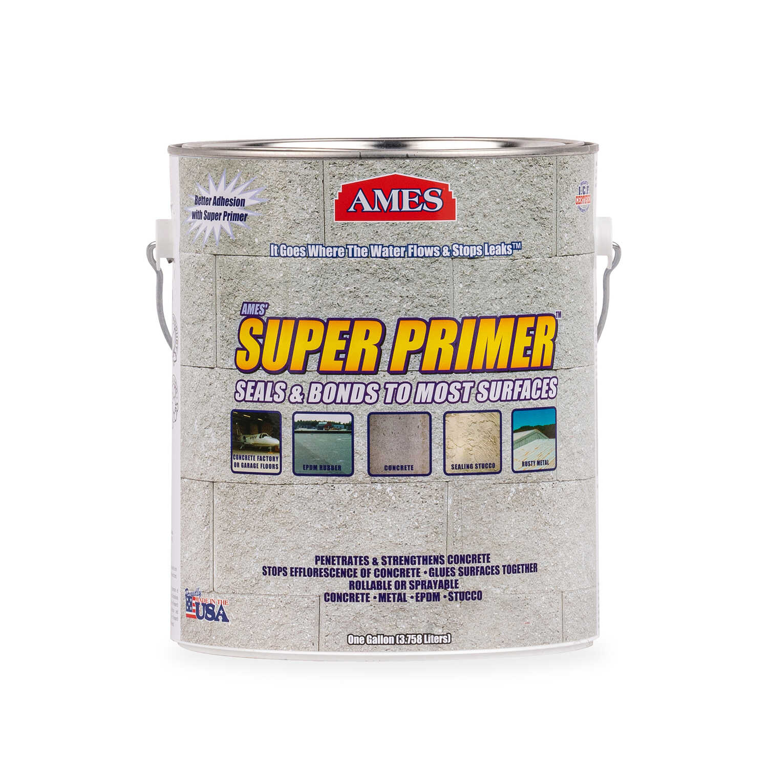 Ames  Flat  Clear  Bonding Primer  For Concrete/Masonry 1 gal.