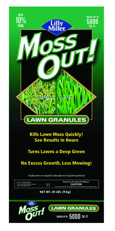 Lilly Miller  Moss Out  Granules  Moss Control  20 lb.