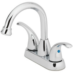 OakBrook Coastal Chrome Two Handle Lavatory Pop-Up Faucet 4 in.