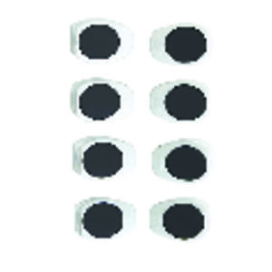 OXO  Good Grips  3/4 in. W x 1 in. L White  Plastic  Magnetic Clips  8 pk