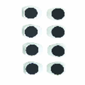 OXO  Good Grips  3/4 in. W x 1 in. L White  Magnetic Clips